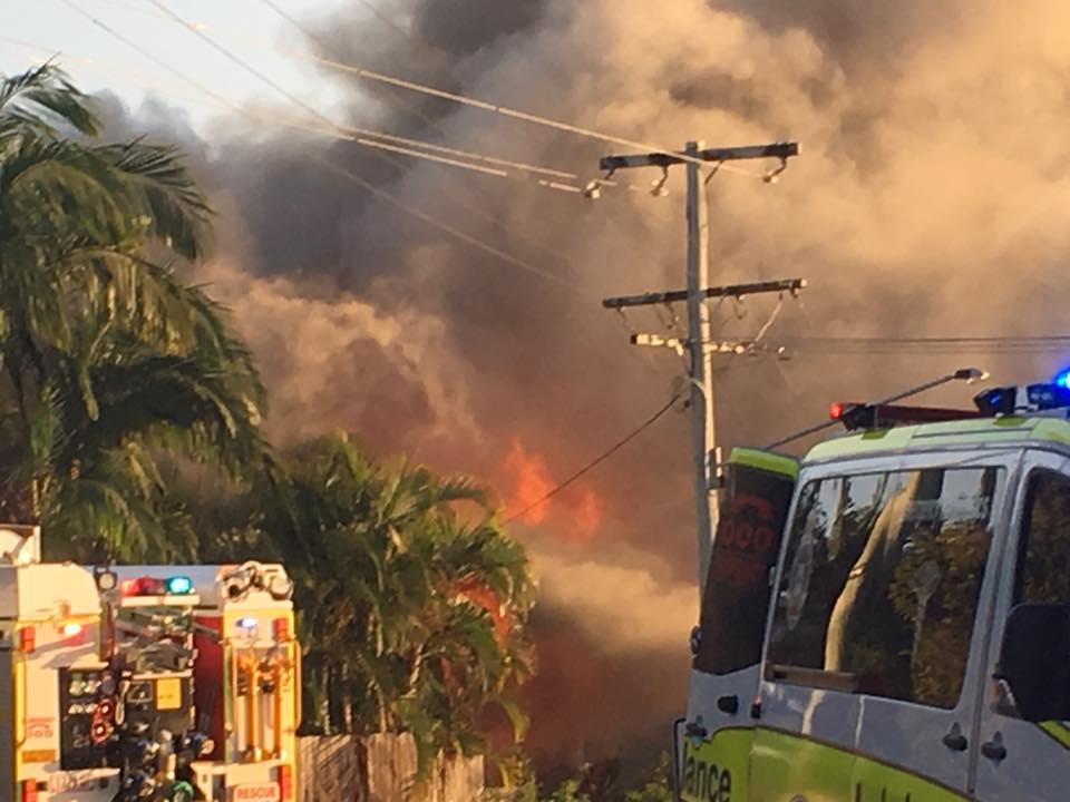 Krísty Héñderšøń posted this photo of the fire scene on Facebook.