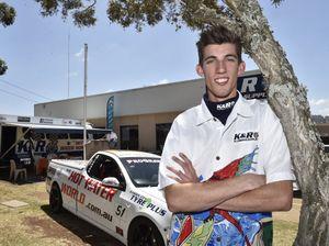 Teenage motoring racing driver