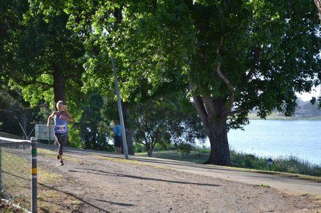 Celia Sullohern in the 2016 Jacaranda Fun Run held at Memorial Park, Grafton on Sunday 6th, November, 2016.