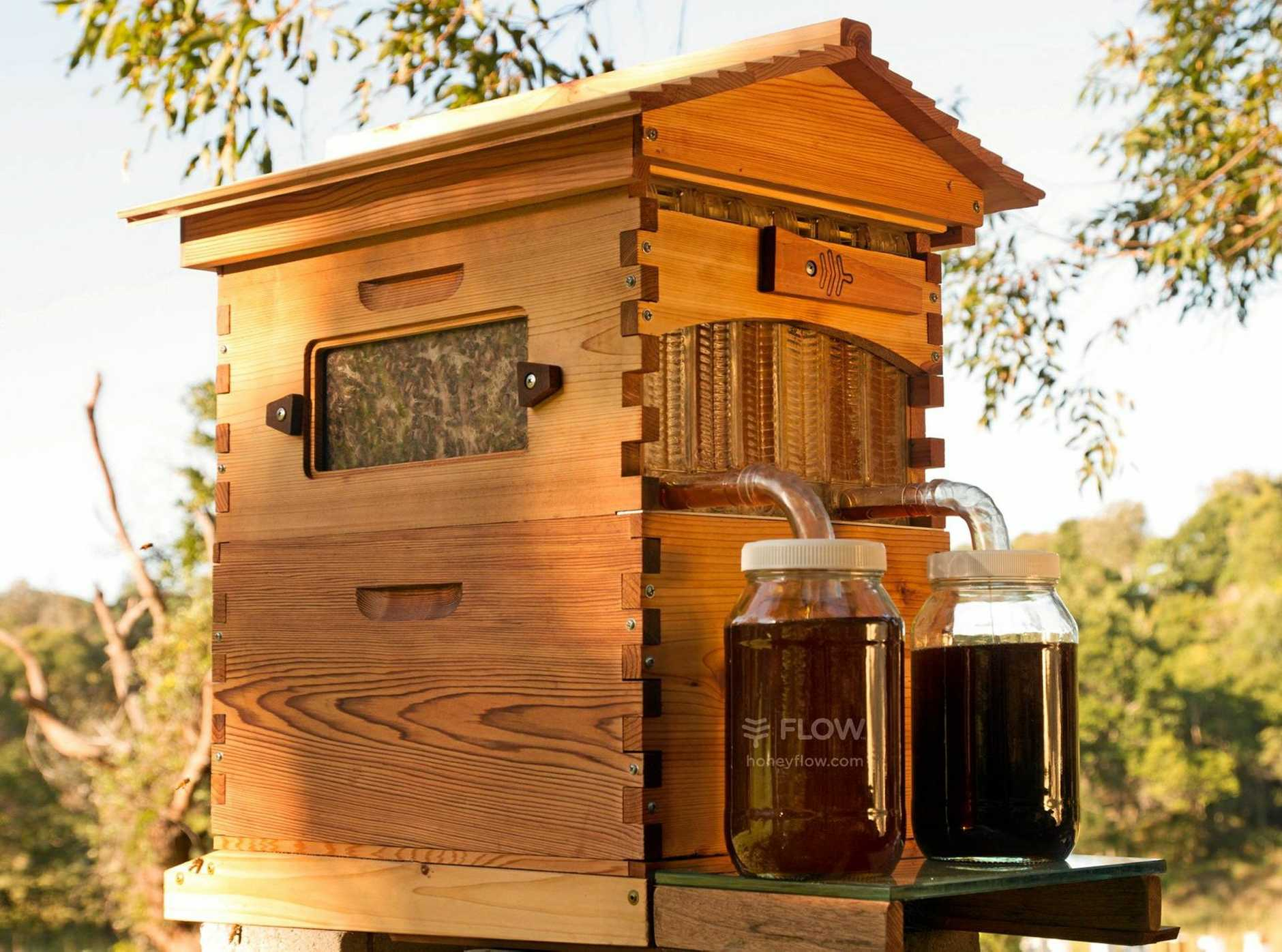 Flow hive made from western red cedar.