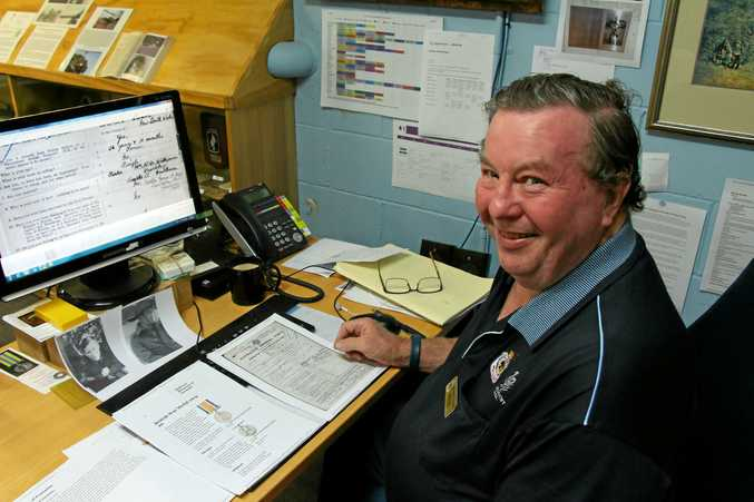 LOST THEN FOUND:  Drew Wall helped  ensure the  medal found its family.