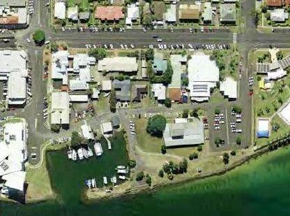 Martin St boat harbour aerial shot.