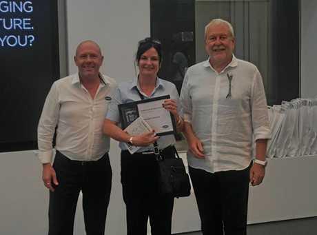 (L-R) Head of UNOX Australia Wayne Viles, Bernadette and owner of UNOX Enrico Franzolin.