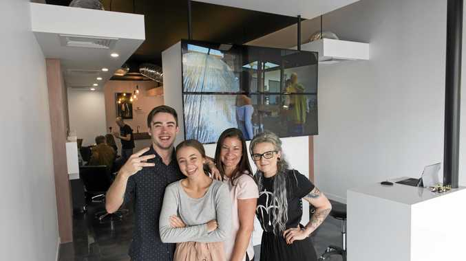 NEW LAB: Now working out of their new location are Edit Hair Lab team members (from left) Jacob Chapman, Kodi Jordan, Angela Stibbard and Mirrin Andrews.