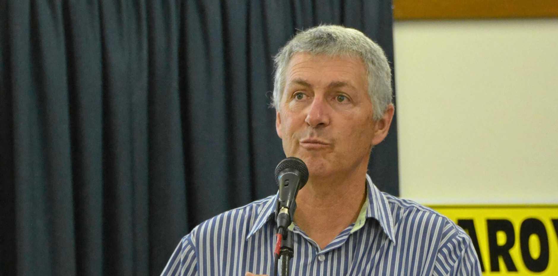 John Dalton speaking at the KCCG AGM.