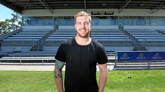 HAPPY HOMECOMING: Cameron Munster at his old stamping ground of Browne Park where he played with the CQ Capras before joining the Melbourne Storm.
