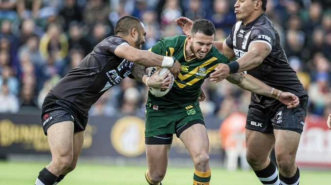 Darius Boyd in action for the Kangaroos.