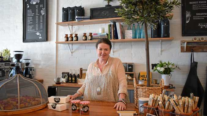 BRANCHING OUT: Natalie Mueller at her new café, The Little Olive on William St, Rockhampton.