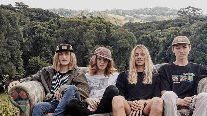 Kyran Moran, Patrick Lynam, Thomas Lobegeiger  and Thomas Smyth make up the local band Elephant Juice.