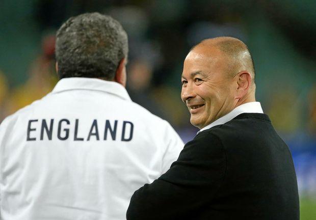 England team coach Eddie Jones has every reason to smile.