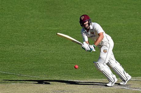 Joe Burns on his way to to scoring a century for Queensland last month.
