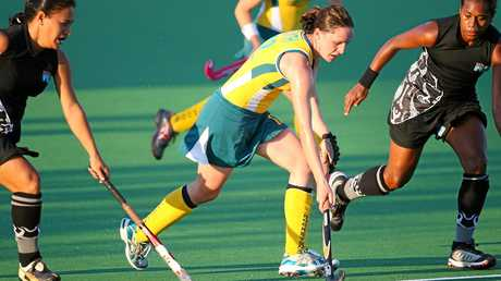 Australia's Madonna Blyth pushes forward during a game in 2007.