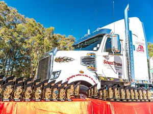 Scuzzy's surprise truck for Brisbane Convoy for Kids