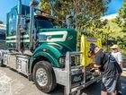 The 2016 Brisbane Convoy for Kids saw hundreds of trucks leave Heathwood bound for Redcliffe Showgrounds where rides and entertainment awaited.
