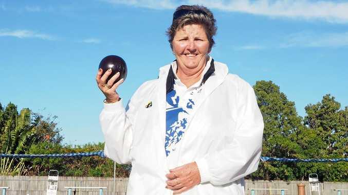 IN FORM: Bowler Gail Dellar.