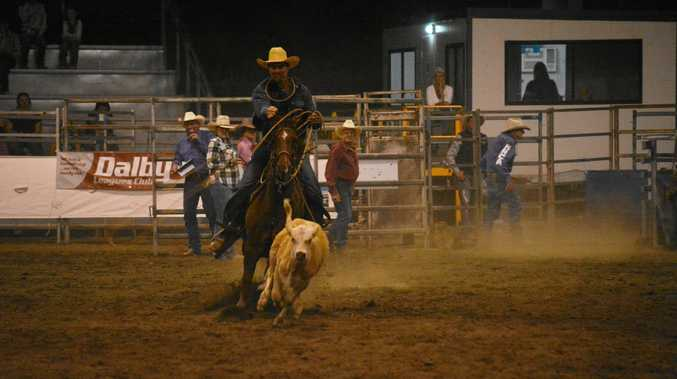 RODEO FINALS: Crowds flocked to see rope and tie at the National Rodeo Finals at the Dalby Showgrounds this weekend.