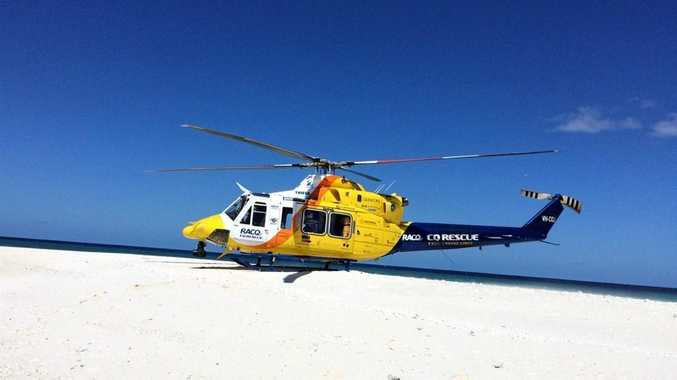 RACQ-CQ Rescue landed on a sandbar about 150km offshore