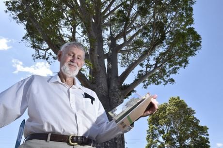 BEST TREES: Under one of his favourite Toowoomba trees, is author of