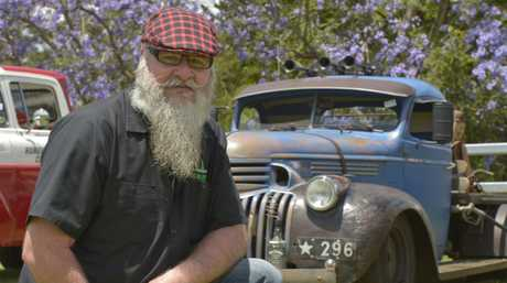 CHEVY CAB: The first annual Highfields Lions Club Show & Shine@ Cabarlah Showgrounds attracted a great range of cars including Alistair Ferries with his 1946 chevy cab. Photo Bev Lacey / The Chronicle