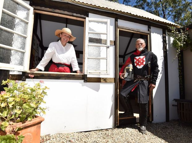 Open day at the Victory Village at Riverbend west of Tiaro - lord and lady of the village - Lady Tonya Osborne-Blake and Lord Terence Blake.