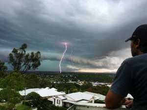 Rain, thunder and lightning
