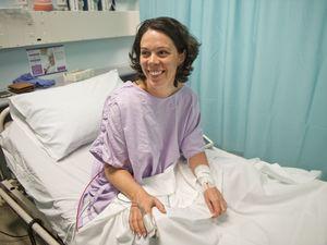 Woman ducks serious injury from snake bite