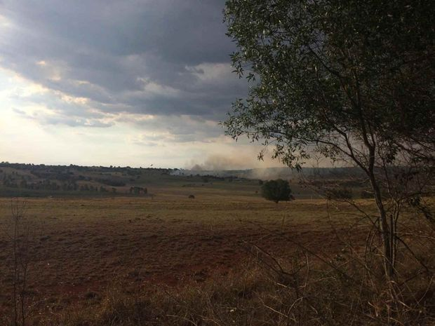 A lightning strike caused a grassfire in the South Burnett on Tuesday, November 8.