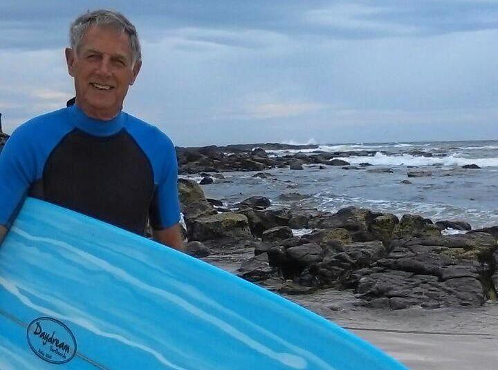 Ballina Malibu surfer Colin Harper.