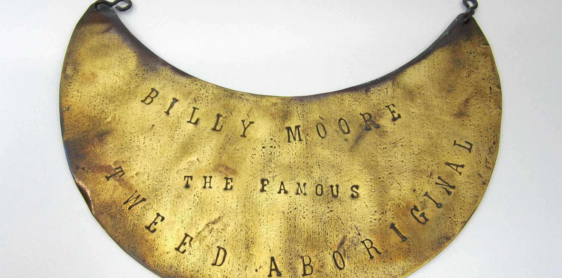 BADGE OF HONOUR: One of the Tweed Museum Aboriginal breastplates on display