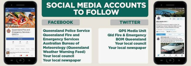 Follow these social media pages for the latest information during disasters.