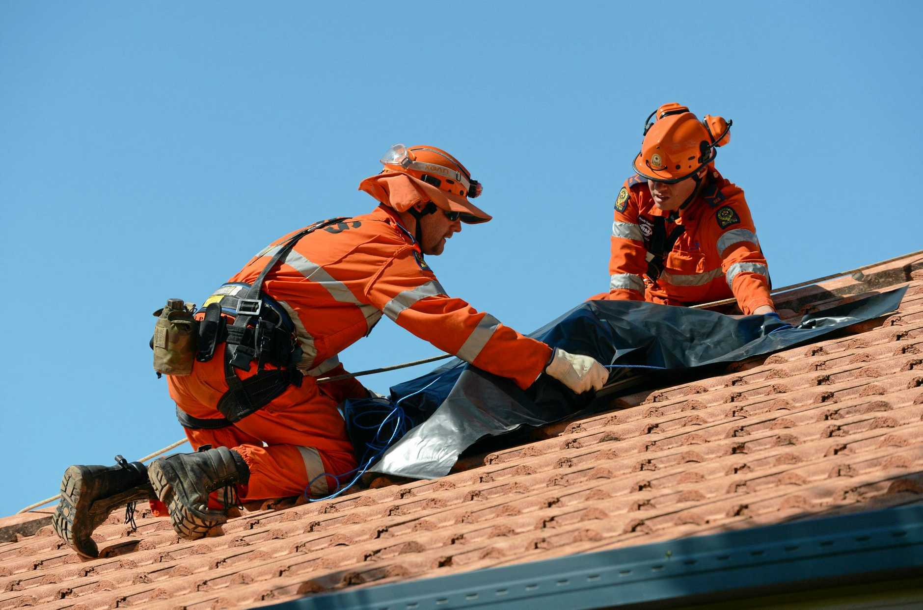 REMEMBER: The SES are for emergencies and storms only. They're busy volunteers and most likely in the same position as you during emergencies.