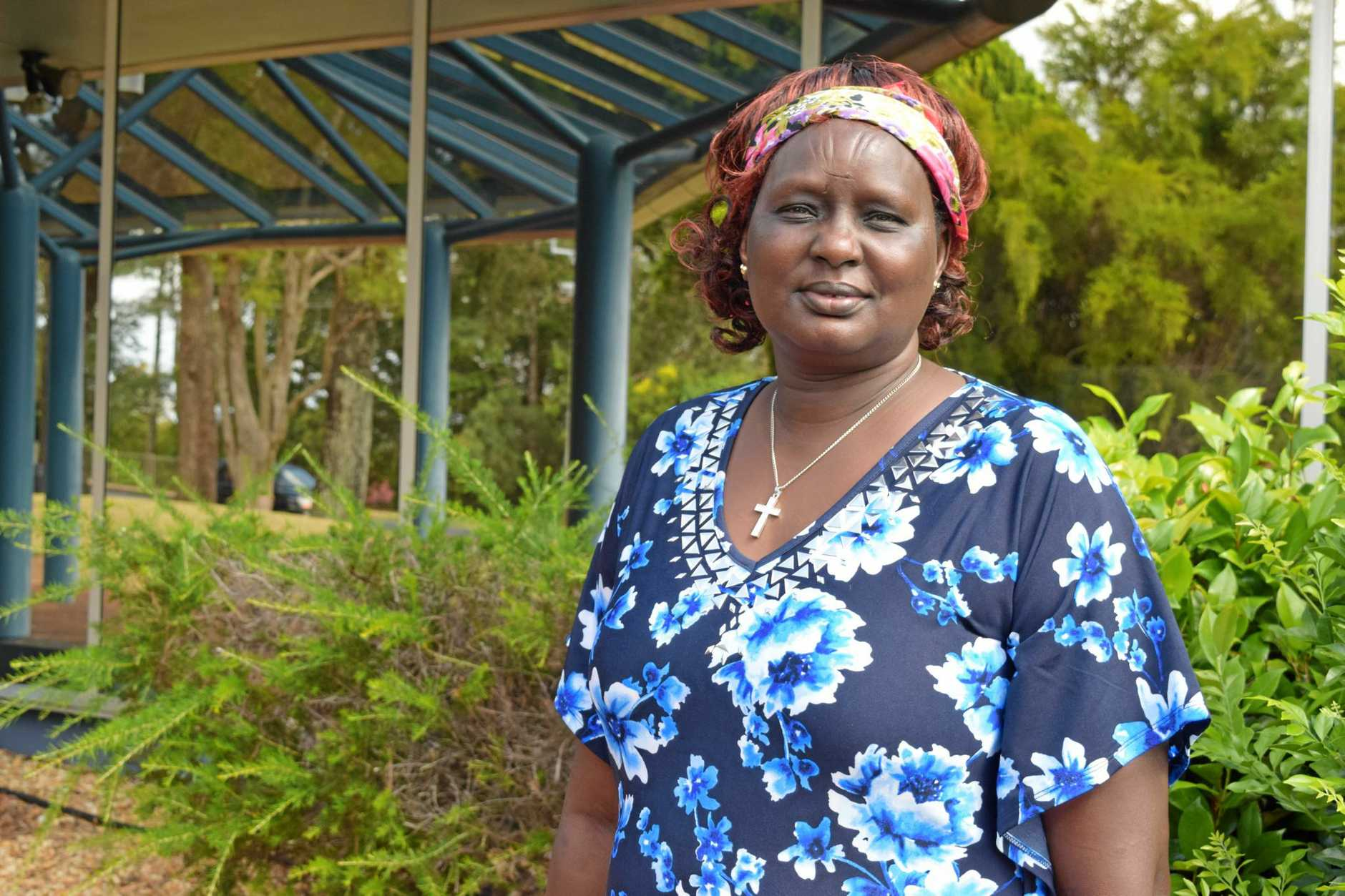 SUDAN: Monica Matoc spent 12 years in a Kenyan refugee camp and is now raising money in Lismore for those still living there.