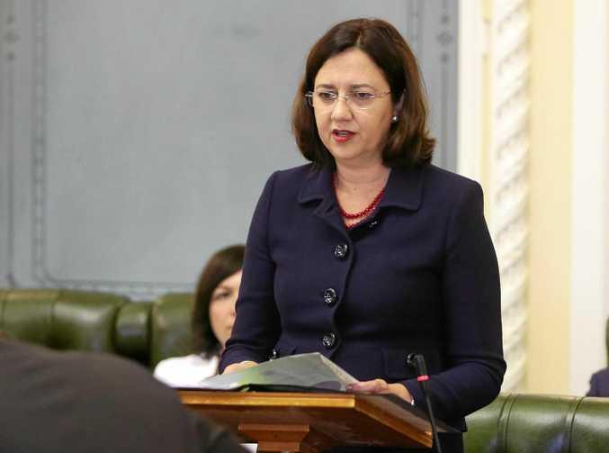 Premier Annastacia Palaszczuk speaks at the Queensland Parliament's opening in Brisbane.