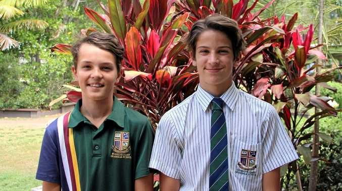 SELECTED: Sunshine Coast Grammar School students Finn Prass and Arion Marley have been picked in Brisbane Lions Academies which is due to start in March, 2017.