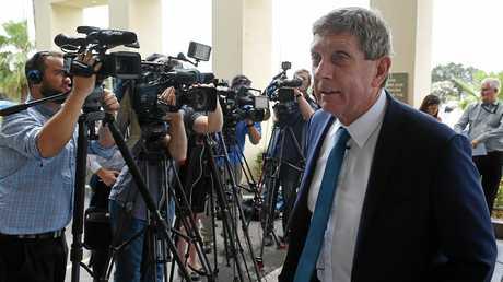 Cronulla Sharks CEO Lyall Gorman addresses the media.