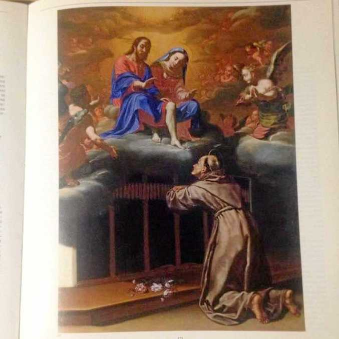 Italian police say the 1631 painting Pardon of Assisi by French painter Jean L'homme has been stolen from a village church in Nottoria.