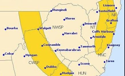 Thunderstorm warnings are in place for the Northern Rivers.