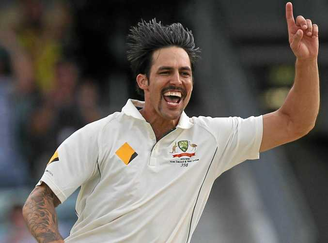 Former Australian bowler Mitchell Johnson in action in 2015.