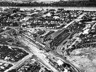 ROK-history22z   (For 1948) An aerial view of the Rockhampton rail yards c1950.  Photo courtesy The Archer Park Railway Museum.