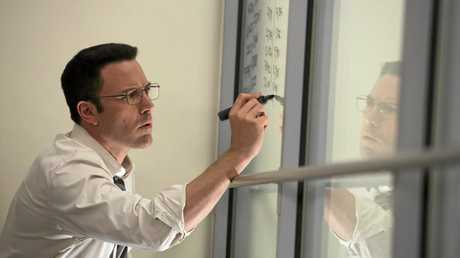 Ben Affleck plays a mathematics genius in a scene from the movie The Accountant.