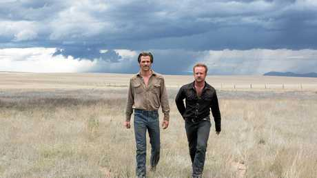 Chris Pine and Ben Foster in a scene from the movie Hell or High Water. Supplied by Madman Entertainment.