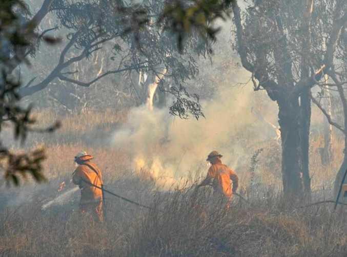 BE PREPARED: A bush fire at Murdering Creek Road a few years ago.