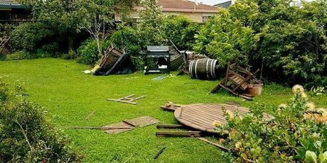 Damage at an Ohope Beach property. Photo/Ohope Volunteer Fire Brigade