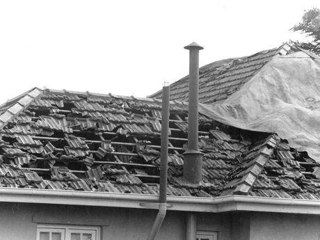 Hail storms January 10, 1976.
