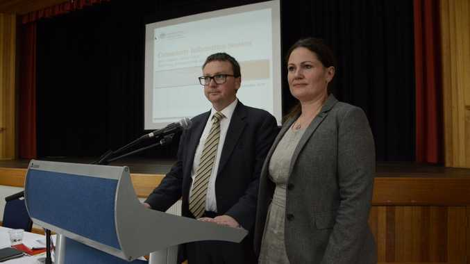 INCOMPLETE: The latest Preliminary Ecological Risk Assessment has been released by Department of Defence's Chris Birrer and AECOM's Amanda Lee in Oakey on Wednesday.