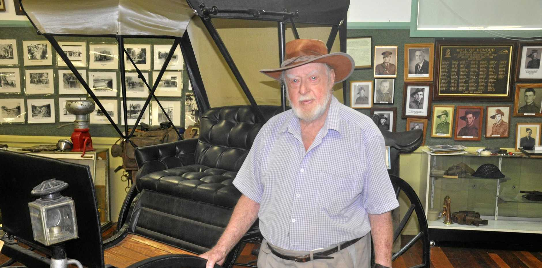 NOT LEAVING: Harold Ware founded the historical society in 1968.