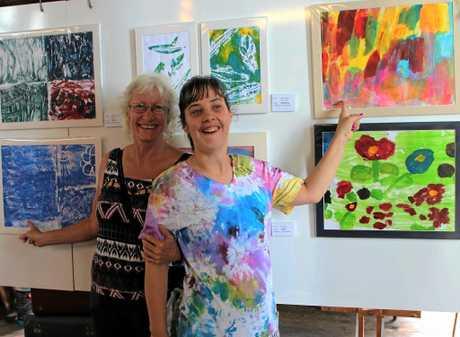 Kimberley and Lorene Santarossa various works