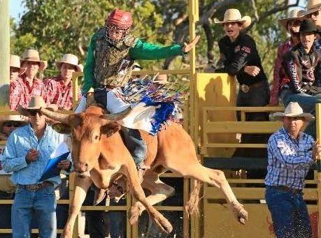 Lleyton Marks winning the steer ride for Australia in the Trans Tasman high school series.