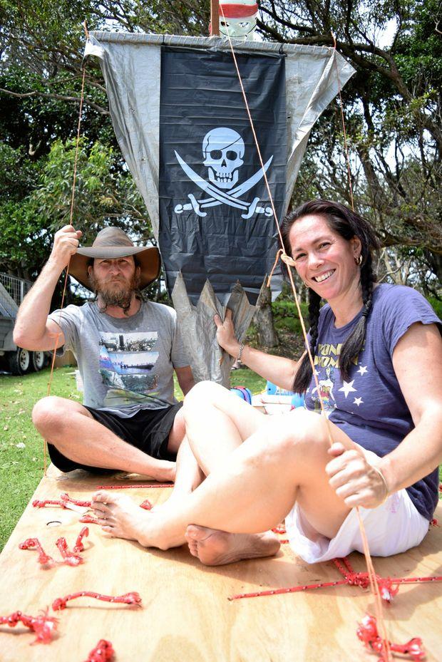 PIRATES AHOY: Steve and Maria Fraser at a past Ballina Prawn Festival.