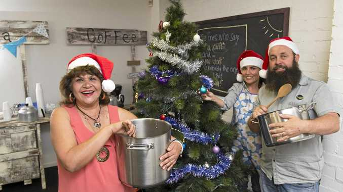 SPREADING CHEER: Organising a Christmas Day lunch for the homeless and less fortunate are (from left) Frances Holmes, Tiffany Spary and Nat Spary.